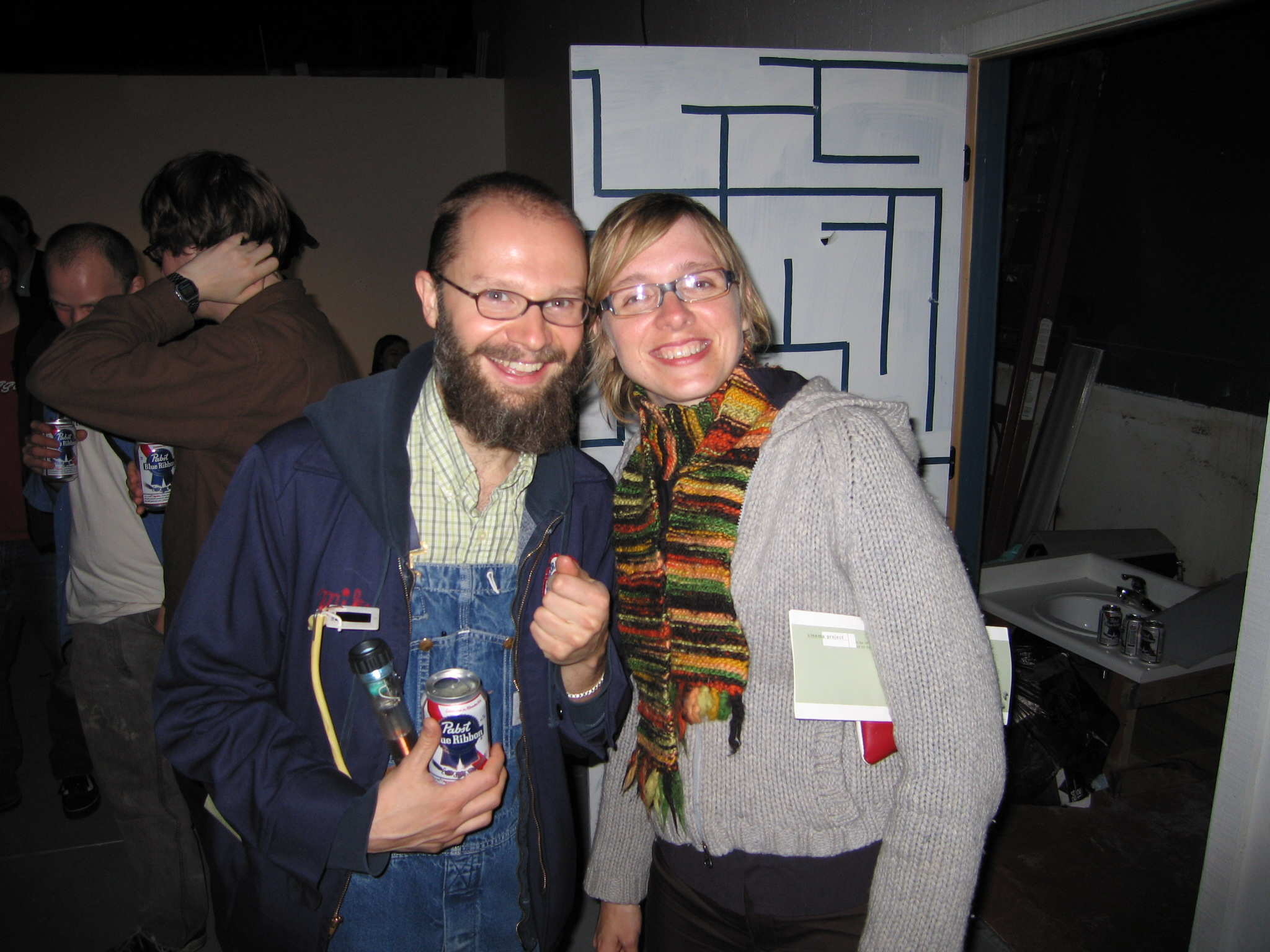 David Gatten and Adele Horne at the 2005 PDX Film Festival
