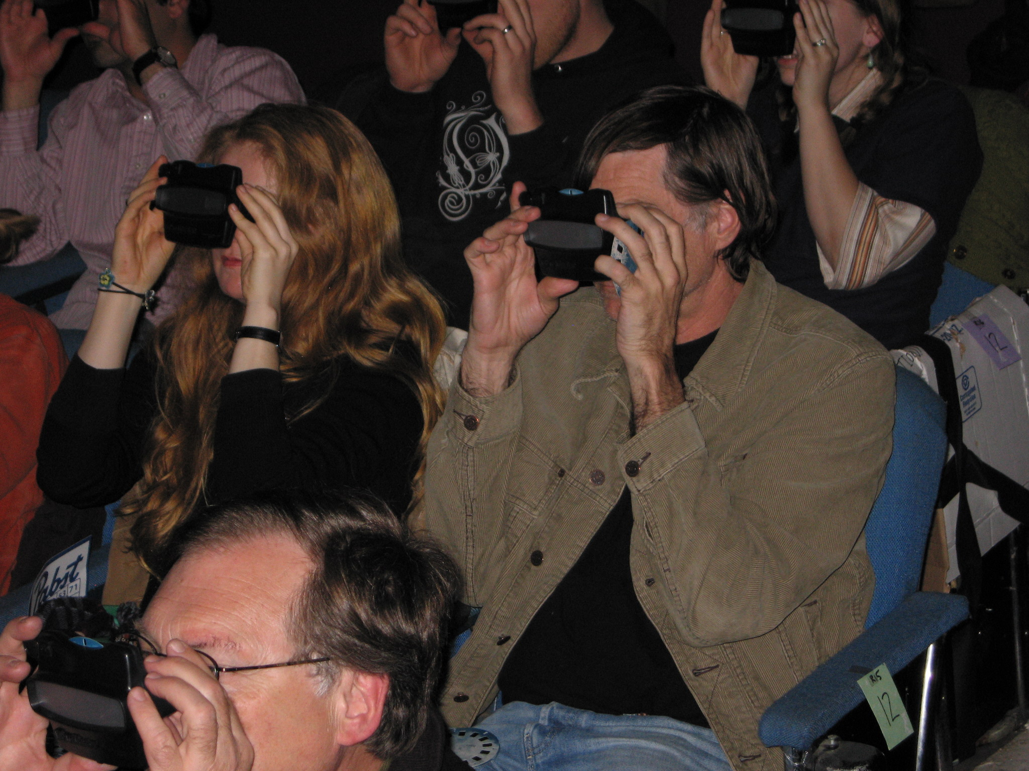 Anne McGuire and Gus Van Sant at the 2006 PDX Film Festival
