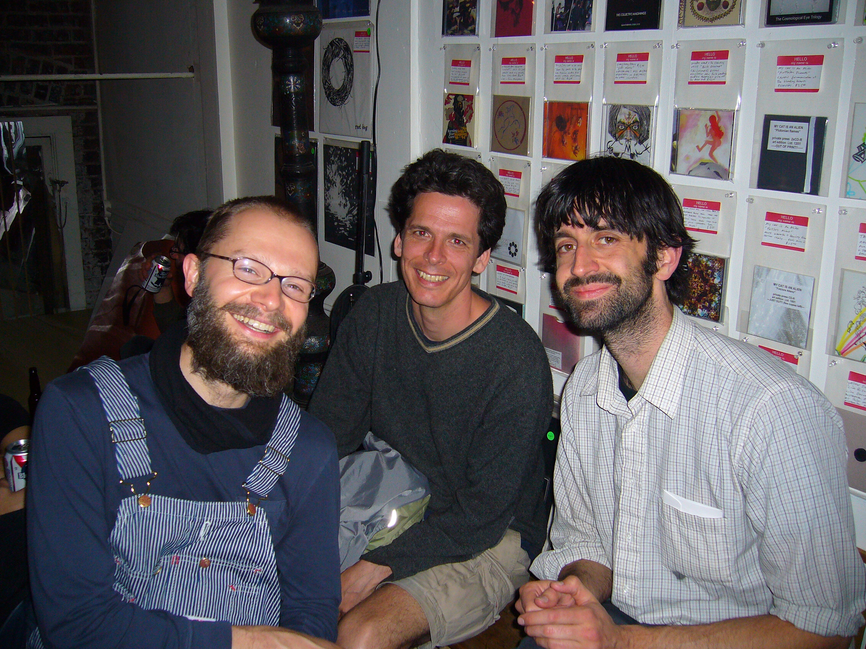 David Gatten, Alex McKenzie, and Matt McCormick at the 2008 PDX Film Festival