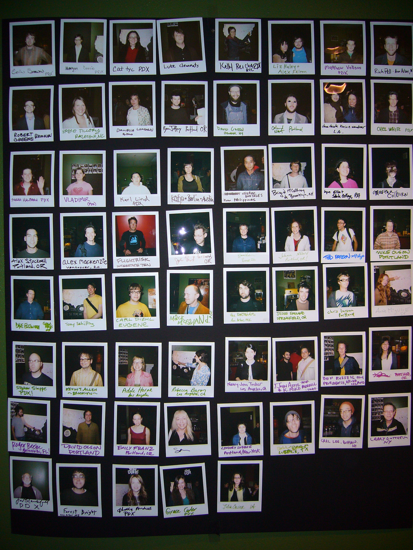 visting filmmaker polaroids