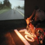 Vanessa Renwick video installation at the 2007 PDX Film Festival